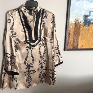 Lane Bryant kimono style top. XL. Tan and black.